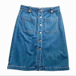 Ann Taylor Loft Denim A-Line Skirt Size 2